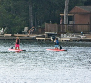 Stand-Up Paddleboarding at Lake Harmony